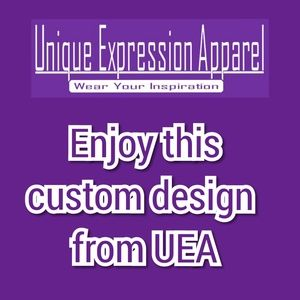 """Unique Expression Apparel Tops - """"Blessed"""" dressy red graphic tee"""